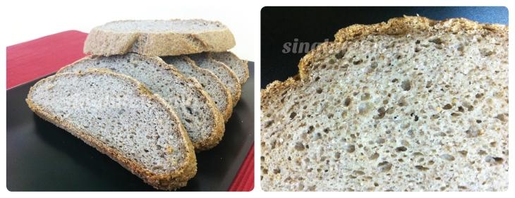 Rebanadas de pan con mix rústico Schär